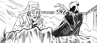 illustration by tim holtrop from the charles dickens classic a christmas carol